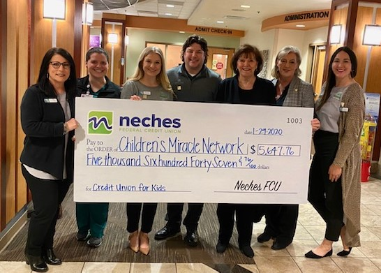 Neches Federal Credit Union Check Presentation